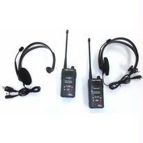 クレーン作業用同時通話無線機 2台組 ヘッドセット付き B47