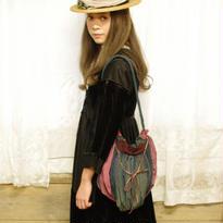 terrier bag<草木×藍染め×アンティークリボン>