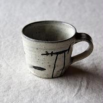 清水しおり 黒絵マグカップ(no.2)
