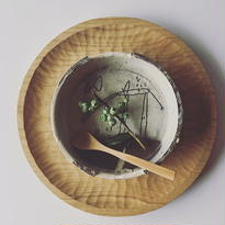 清水しおり 丸台皿(no.3)
