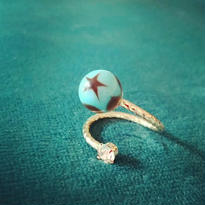 vintage beads pinky ring