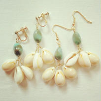 natural shell×turquoise