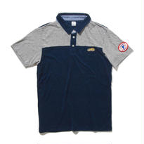 PGPR-09:ポロシャツ エアリーパイル/杢グレー天竺/ギンガム(NAVY)