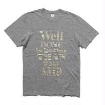 EN-T013:タイポグラフィTシャツ(PLATINUM/GOLD)