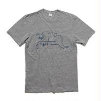 EN-T012:馬イラストTシャツ(NAVY)