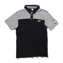 PGPR-09:ポロシャツ エアリーパイル/杢グレー天竺/ギンガム(BLACK)
