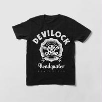 NO4/(黒)ヘッドクオーターTシャツ