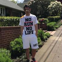 WHITE/NO RUN NO LIFE