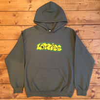 LOTTIES GRAPHITE HOODIE IN OLIVE
