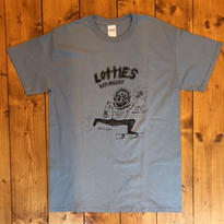 LOTTIES CIVILIZED MAN SHORT SLEEVE T-SHIRT IN LIGHT NAVY