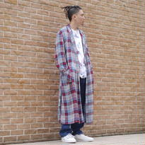 OLD rayon check gown