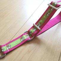 リミテッドチョークカラー(ピンク×緑ミツバチ)LLサイズ