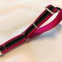 リフレクター付リミテッドチョークカラー(黒×ピンク)Lサイズ