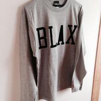 BLAX LOGO Long T-shirts(Gray)