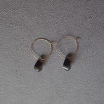 petal earring / smoky quartz