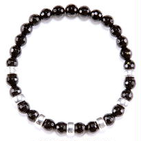 Onyx & Silver beads Bracelet