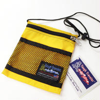 Tough Traveler / LARGE POUCH WITH MESHPOCKET YELLOW タフトラベラー ポーチ サコッシュ