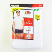 Fruit of the Loom 3Pack CREW T-Shirts White フルーツオブザルーム クルーネックTシャツ