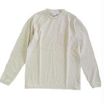 Velva Sheen TUBULER L/S TEE W/PKT TEE OATMEAL ベルバシーン 長袖Tシャツ