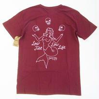 DARK SEAS CARNIVAL TEE BURGUNDY ダークシーズ Tシャツ