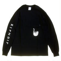 RIPNDIP / FALLING FOR NERMAL POCKET TEE L/S TEE BLACK リップンディップ 長袖Tシャツ