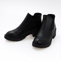 合皮 サイドゴア ショート ブーツ
