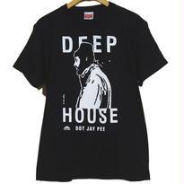 DEEP HOUSE DOT JAY PEE TEE [BLACK]