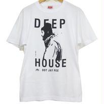 DEEP HOUSE DOT JAY PEE TEE  [WHITE]