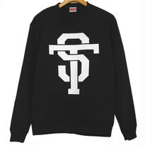ST  CREW NECK SWEAT [BLACK]