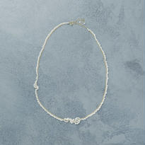 shuo 12029 Drop Pearl Necklace