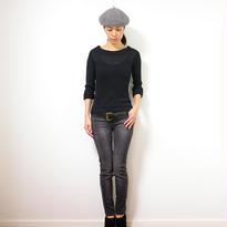 ◆特別価格◆Crux[クルックス] ラウンドネック・セーター / ブラック