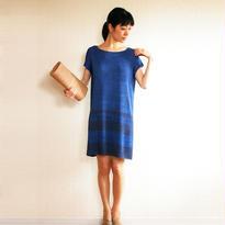 ◆Mサイズ即納◆Achernar[アケルナル] ボクシー・ワンピース / ブルー系1