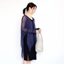 ◆特別価格◆即納◆Alwaid[アルワイド] オールカバー袖付きストール / ネイビー・ブルー
