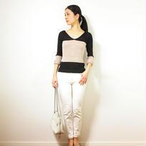 ◆特別価格◆Kruger[クリューガー] Vネック・セーター / ブラック系1