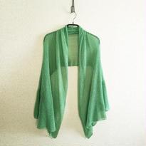 ◆特別価格◆即納・ラスト1点◆Rigel[リゲル] 袖付きストール / ミント・グリーン