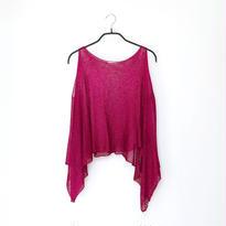 ◆特別価格◆即納◆Scutum[スクトゥム] ベアショルダー・ポンチョ短丈 / ベリー・ピンク