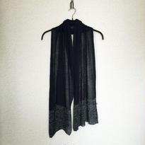 ◆特別価格◆Saiph[サイフ] 裾ラメ・エアリーストール / ネイビー・ブルー