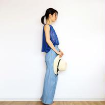 ◆特別価格◆即納◆Scutum[スクトゥム] ベアショルダー・ポンチョ短丈 / ロイヤル・ブルー