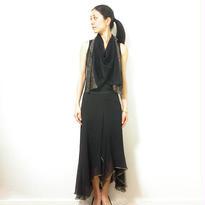 ◆特別価格◆即納◆Saiph[サイフ] 裾ラメ・エアリーストール / ブラック