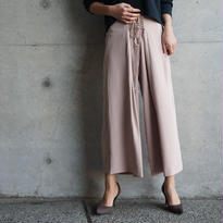 LACE UP DRAPE WIDE PANTS