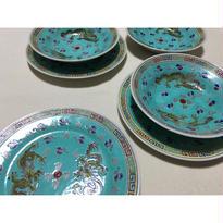 【香港☆中国景徳鎮】龍柄の綺麗な色の皿・ボウル / 各ばら売りです。