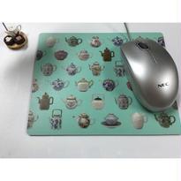 <決算SALE>【香港☆茶具文物館】  30th Anniversaryマウスパッド / ティーカップ&ポット柄
