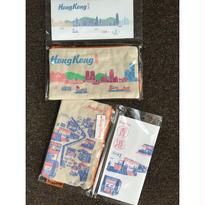 【香港☆HK Bag with Note】A些利街・B海港景色 / 筆記本&形象筆袋set