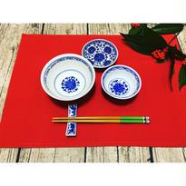 【香港☆景徳鎮制】藍色 お茶碗  / デイリーユースのお揃い食器