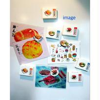 【香港☆HK Tasty Magnet】雙拼燒味飯・牛油多士・公仔麵  / 美味磁鐡3種類