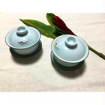 【香港☆金魚】蓋付茶杯・ティーカップ / とても上品な色です