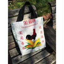 ☆Handmade☆【金鷄牌】 泰國苿莉香米 リメイク TOTE BAG / お米の袋で作りました