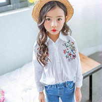 kids☻Flower 刺繍 shirt