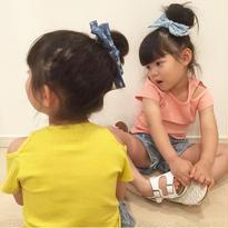 kids☻肩開きシンプルリブtops【ピンク】【イエロー】