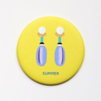mirror -earrings:yellow